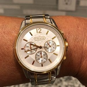 Genuine Coach Chronograph Silver and Gold Watch